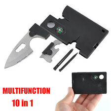 Outdoor Survival Multifunction 10 in 1 Pocket Credit Card Knife Camping Tools