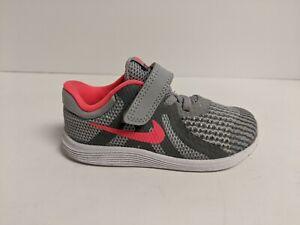 Nike Kids Revolution 4 (TDV) Running Shoes, Wolf Grey, Toddler 8 M