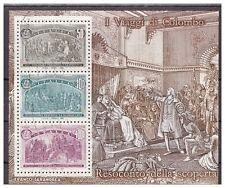 ITALIA 1992 - COLOMBO FOGLIETTO USATO  50 + 300 + 4000