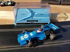 Vintage Scalextric Elf Tyrrell 007 fórmula 1 C121 Azul en Caja probado y de trabajo