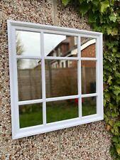 61*61cm WHITE SQUARE WINDOW MIRROR ENCHANTED MANTLE HALLWAY BLACK MIRROR