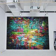 3x5FT Retro Vinyl Photography Colorful Brick Wall Backdrop Studio Backgroun