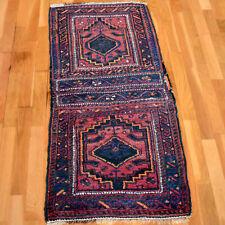 Handmade Vintage Traditional Oriental Wool Rug 125 X 58cm