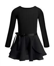 Girls Ballet Dress Leotard with Skirt/Tutu Kids Unitard Dancewear Outfits 3-14Y