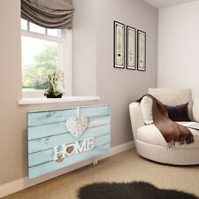 Glass Radiator Cover Printed - Home Is Where The Heart Is - By Premier Range