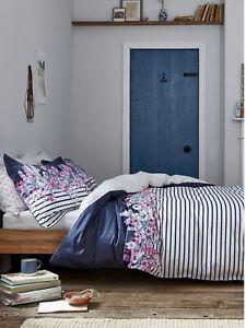 JOULES Home Cottage Garden Border Stripe - Double Size Duvet Cover Set BNIP