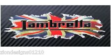 LAMBRETTA British union flag jack Motorcycle  graphics stickers decals x2 small