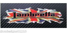 LAMBRETTA Britisch union flagge stecker Motorrad grafik sticker aufkleber x2 Med