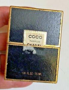 Chanel~COCO Parfum~1/4 oz~7.5 ml~OLD~Vintage 1950 Crystal Perfume~Original box