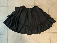 Gothic Lolita Frill Skirt Black Large