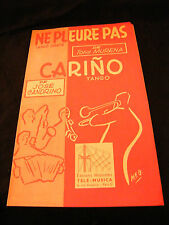Partitura Ne pleure pas Tony Murena Carino Candrino Music Sheet