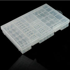 Multi-Function AAA AA C D 9V Battery Holder Plastic Case Storage Box - Clear