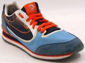 Diesel Aramis Men's Fashion Blue/Orange/Black Sneakers Sz 9 M Shoes
