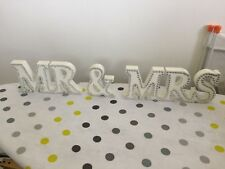 Mr & Mrs Wooden Letters