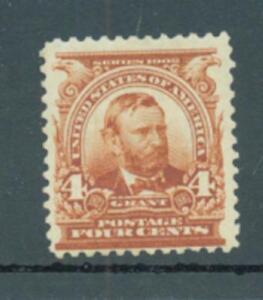 USA 1902 4c Grant sg.309 MH hinge thin at centre