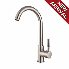 360 Degree Swivel Stainless Steel Lever One Hole Brushed Nickel Bar Sink Faucet