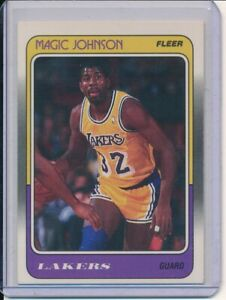 MAGIC JOHNSON 1988-89 FLEER NBA BASKETBALL #67 LOS ANGELES LAKERS