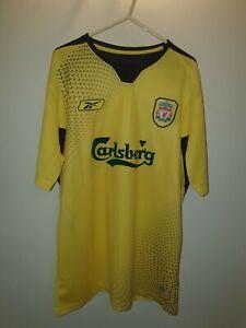 Liverpool F.C Away Yellow Football Shirt 2004/2005 - Gerrard #8 *CLASSIC/RETRO*