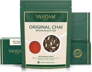 VAHDAM SPICED MASALA CHAI TEA - BLACK LOOSE LEAF TEA BLEND, 200G,100 CUPS