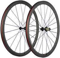 Carbon Road Wheels 38mm Bicycle Wheelset 700C Carbon Wheels 3K Matte Front+Rear