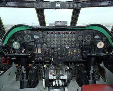 B-52 Cockpit Instrumententafel 11x14 Silber Halogen Fotodruck
