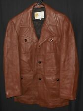 50's 60's Deer Skin Jacket W.B. Place & Co. Genuine Deer Leather Car Coat 44