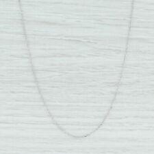 "14k White Gold Box Link Pendant Chain//Necklace 20/"" 2 grams WBOX053"