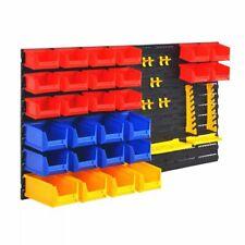 Vidaxl organizador herramienta garaje soporte estante caja repisa pared taller