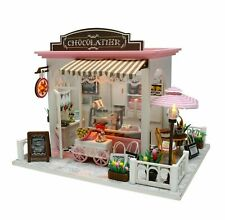 DollLabs Miniature Dollhouse DIY Cardboard Dollhouse Kit with Dust Cover