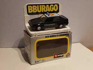 """° BURAGO #0189 - Alfa Romeo 75 """"CARABINIERI"""" - scala 1/24"""