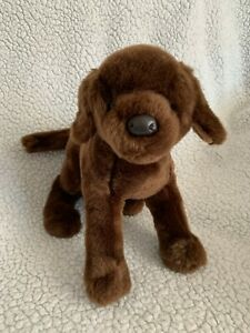 "Soft Toy Chocolate Brown Labrador Dog Puppy  Douglas Toys 12"" Long"