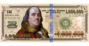 100 Franklin Million Dollar FAKE Play Funny Money Bill w/Gospel Tract 1,000,000