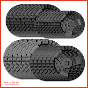 "⭐️CAST IRON 1"" WEIGHT LIFTING PLATES DISCS WEIGHTS 4 BARBELL DUMBBELLS TRI-GRIP"