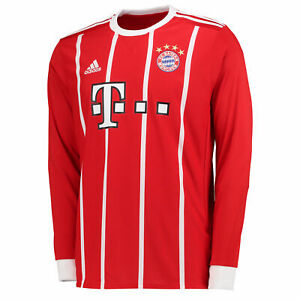 Adidas FC Bayern Munich Men's Home Long Sleeve Jersey 2017/18
