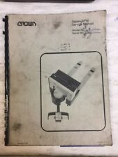 Crown Series GPW Forklift Service And Parts Manual