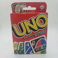 Mattel Uno Card Game with Customizable Wild Cards, Newest Version