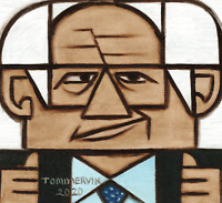 Bernie Sanders Painting Political Art Gif Geometric Artwork Cubism Pop Picture