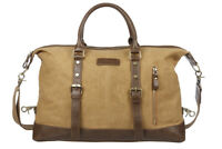 Luxury Waxed Canvas Holdall Overnight Bag Travel Vintage Gym Weekend Duffle
