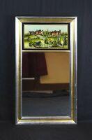 Vintage Eglomise Designs Georgetown University Reverse Painted Glass Mirror