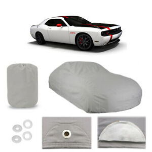 Dodge Challenger Srt 6 layer Car Cover Outdoor Fit Water Proof Rain Sun UV Dust