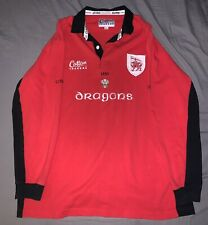 Rare Vintage Cotton Traders Dragons Rugby Shirt XL