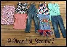 Girls Clothing Lot, 9 Items, Size 6/7, Disney, Old Navy, Arizona, Carter's