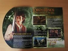 Lord Of The Rings Fellowship Of The Ring Official Topps Sellsheet Sell Sheet