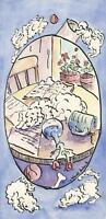 BICHON FRISE DOG PUPPIES PEN & INK DRAWING WATERCOLOR ART PAINTING LISTED ARTST