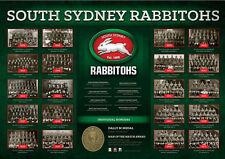 South Sydney Rabbitohs Premiers Years NRL Premiership History Series Print