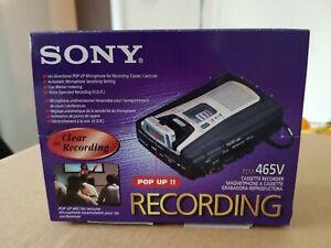 BNIB Sony TCM-465V Handheld Cassette Voice Recorder