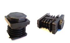 2 Stellteller/Stellfuß für Quadrat-u. Rechteckrohre, Kunststoff PA, Schwarz