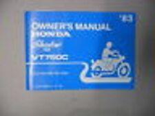 Honda Owner's Manual 1983 VT750C VT750 C