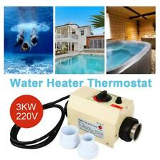 3KW Electric Water Heater Thermostat for Swimming Pool SPA Hot Tub 240V