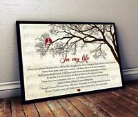 In My Life The Beatles Lyrics Landscape Paper Poster No Frame Shipping Worldwide